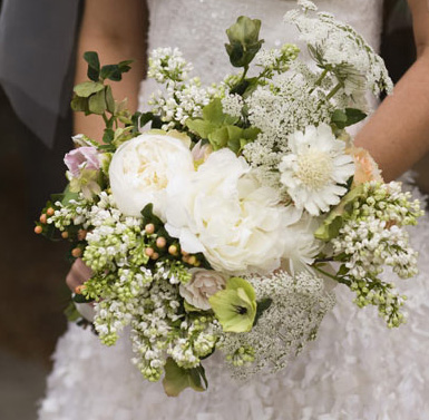 Cropped wedding bouquet