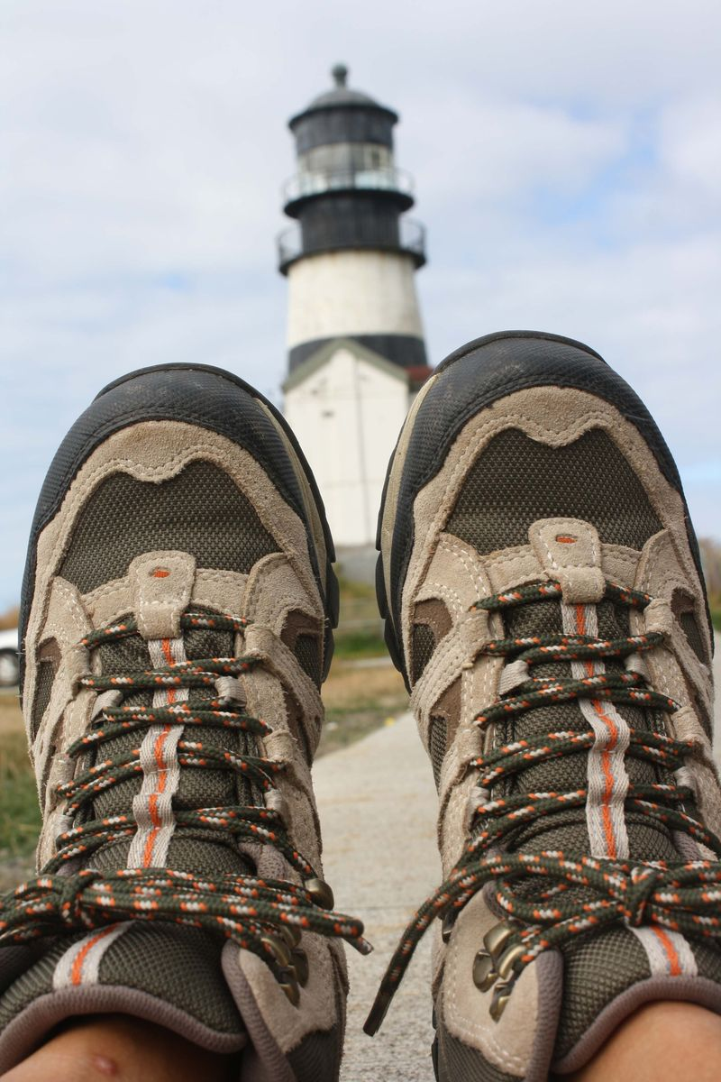 Hiking boots at the lighthouse for web