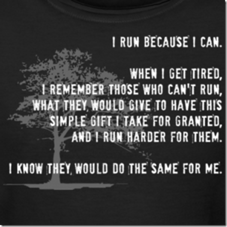 I run for those who can't