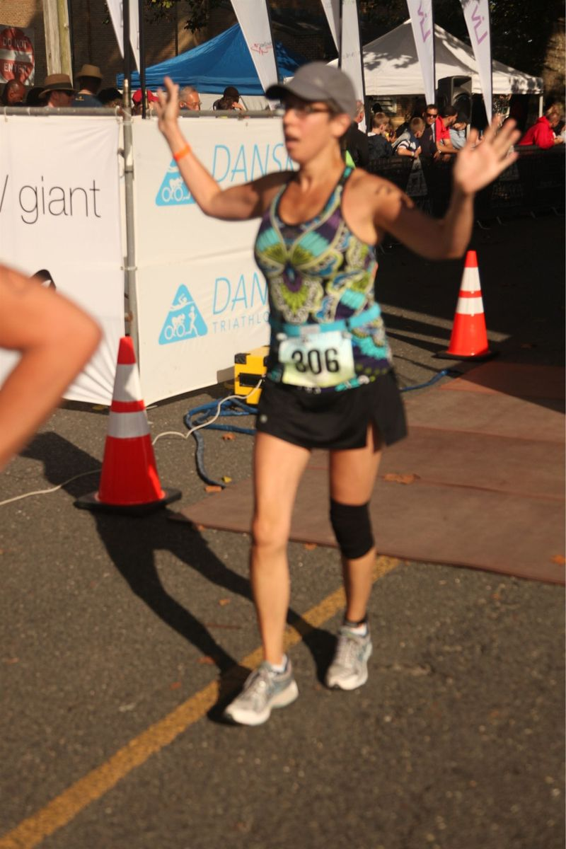 Just me across finish