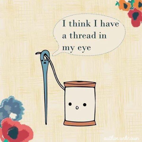 Thread in my eye