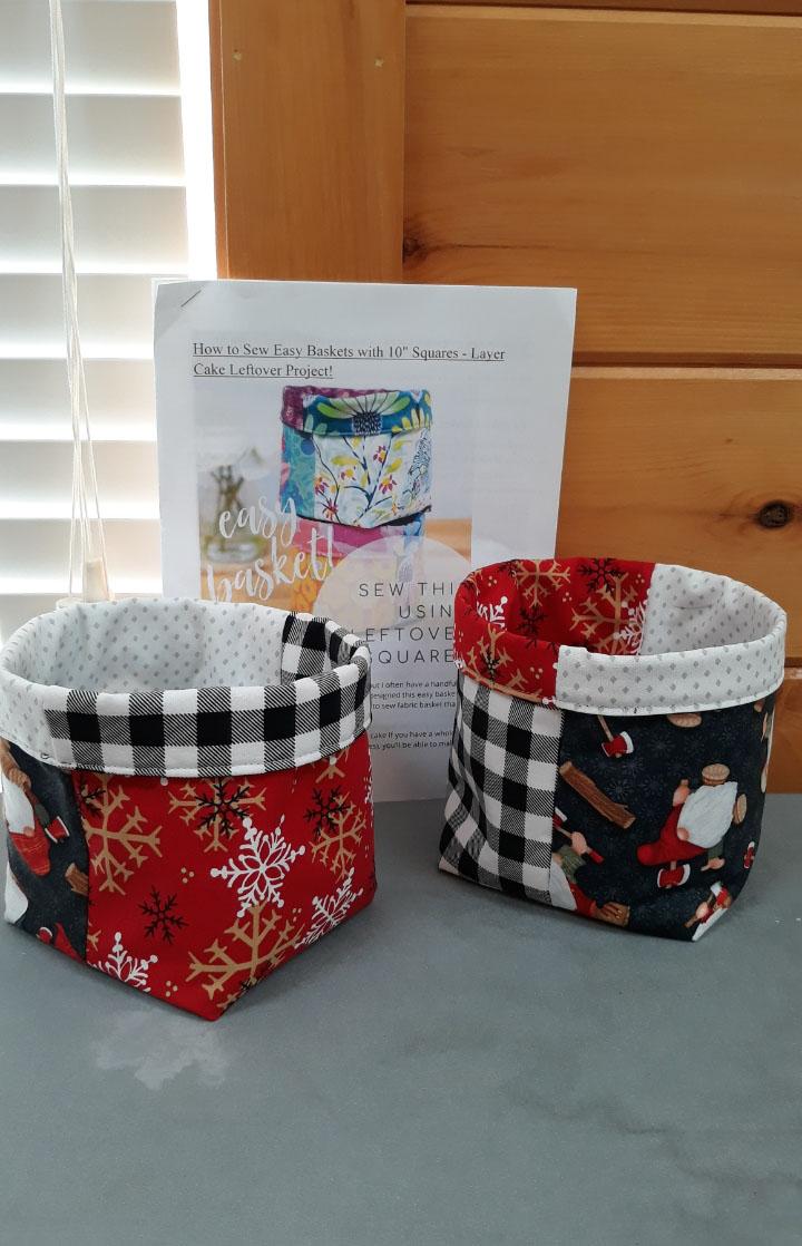 Snow gnome baskets
